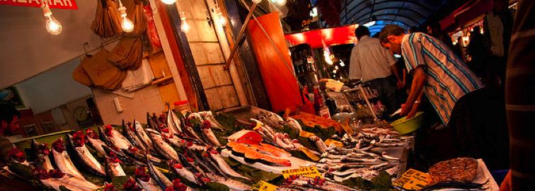 mercato del pesce di Beyoglu