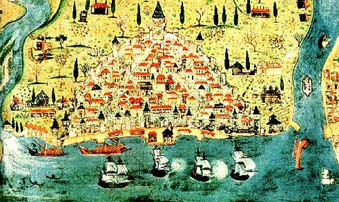 XVth century Ottoman Map of Galata